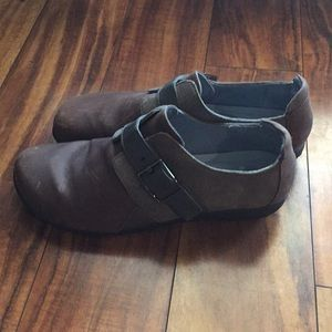 NAOT size ladies 10 New brown/ grey
